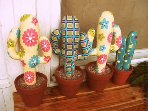 Home Decorating With Cacti And Handmade Cactus Home Decorations Ideas For The House