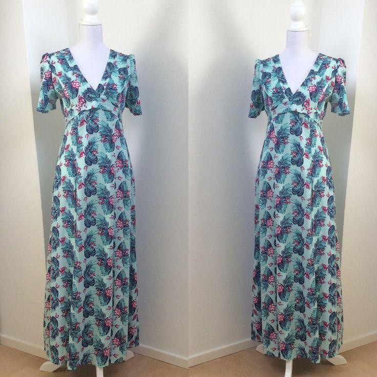 OKALANI Cotton Maxi Dress with Front Split