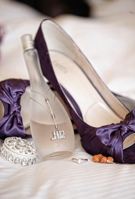 Brisbane Wedding Photographers - purple wedding shoes, Christopher Thomas Photography