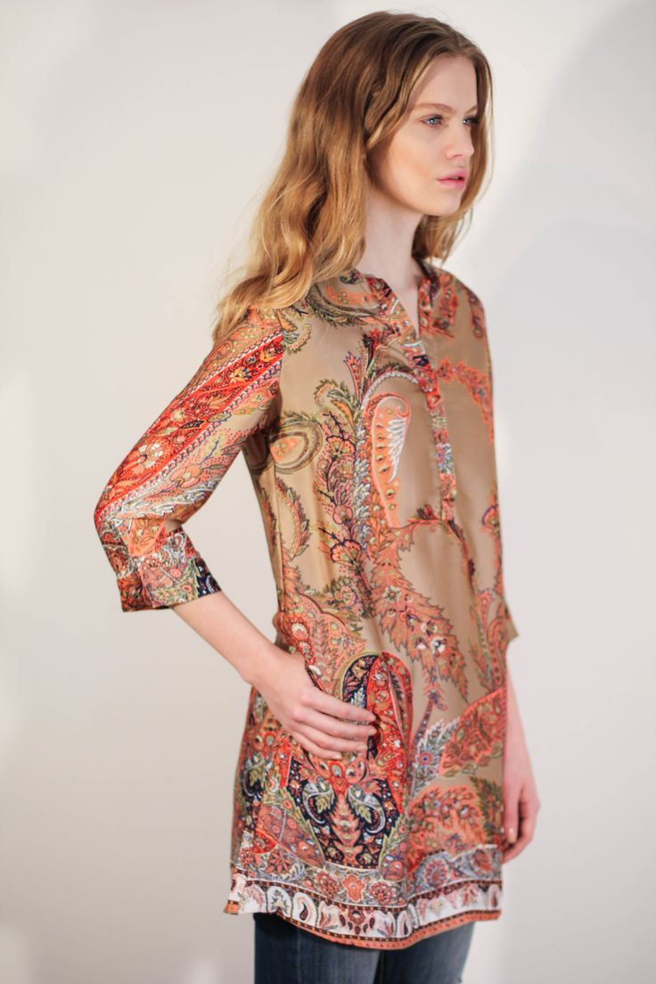 Boho tunique in satin from Diabless of Sweden. Will make a great mini dress in summer!