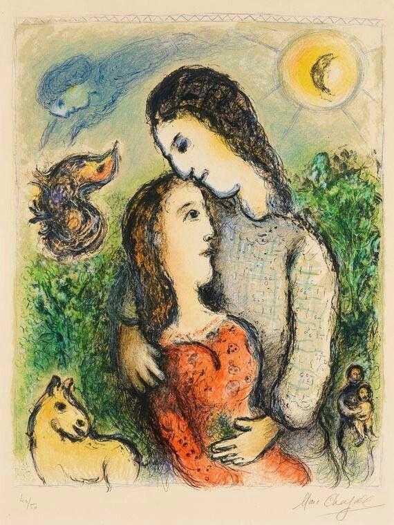 Les 965 meilleures images du tableau chagall sur pinterest for Chagall tableau