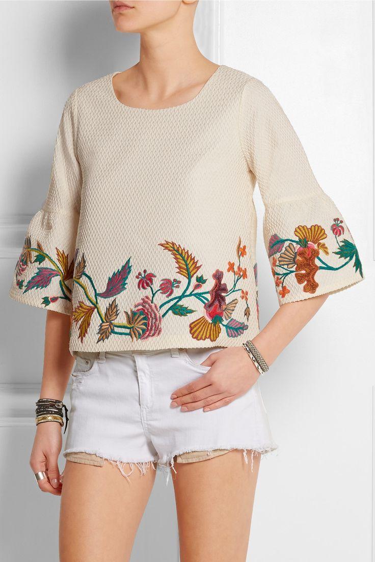 Resultado de imagen para diseños de bordados a mano para blusas