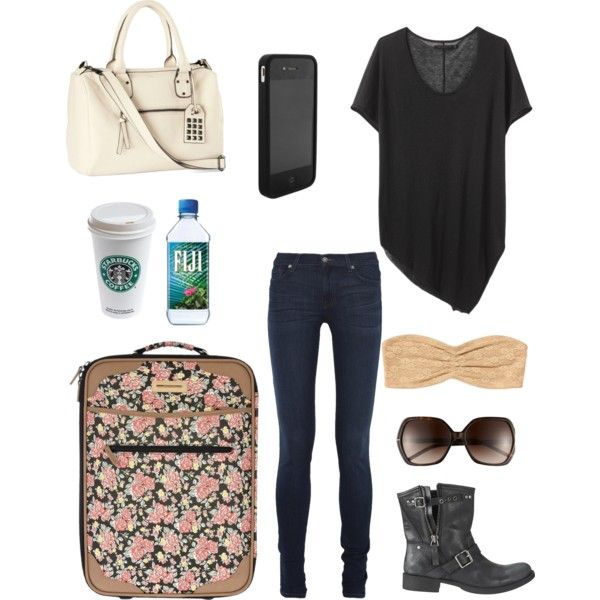 """""""airport outfit."""" by jennafaye on Polyvore"""