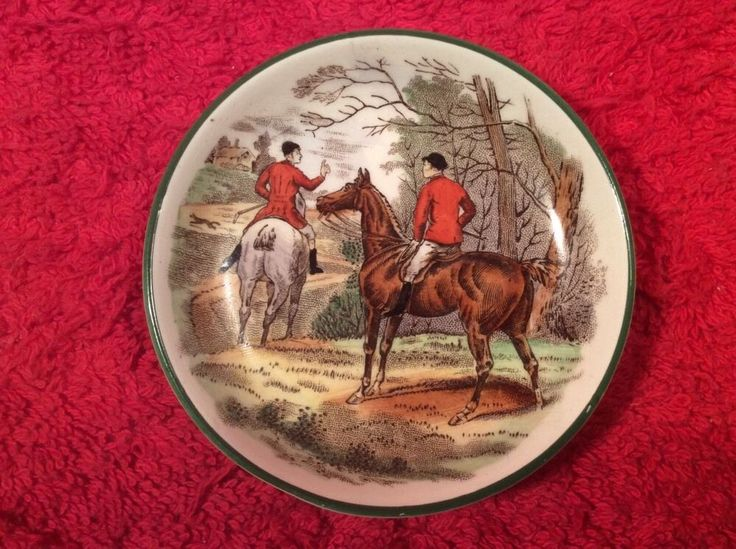 English Equestrian Butter Pat Riders On Horse Back Em73