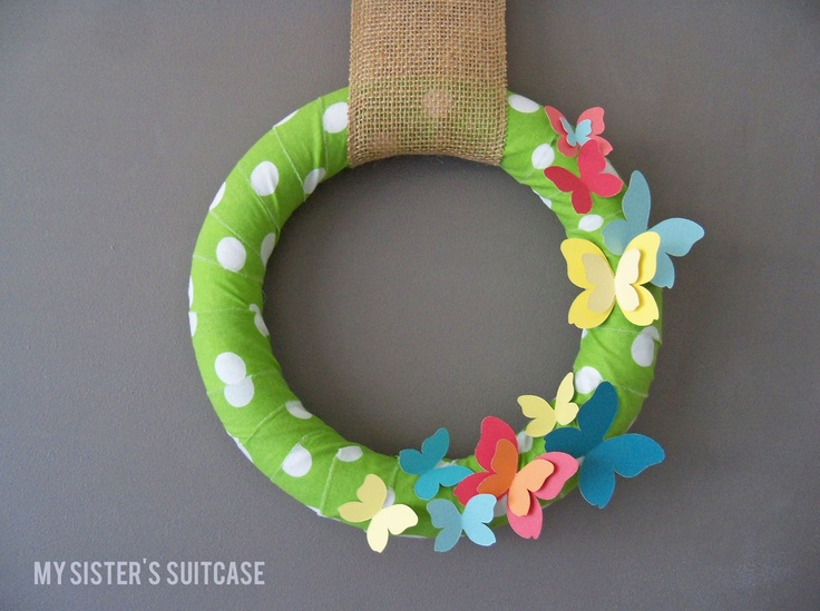 My Sisters Suitcase: Butterfly {Paint Chip} Wreath