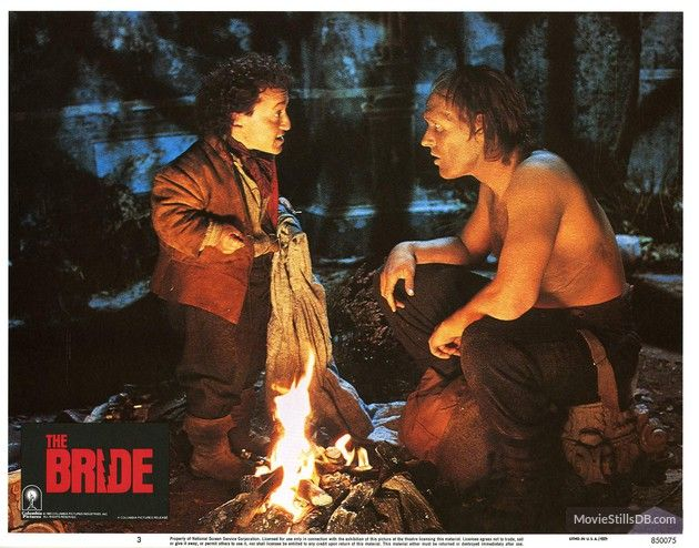 The Bride - Lobby card with Clancy Brown & David Rappaport