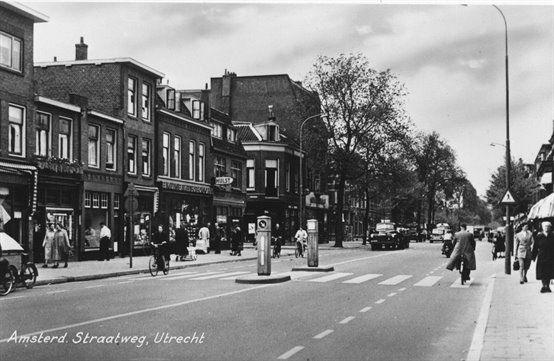 Gezicht in de Amsterdamsestraatweg te Utrecht.1955-1960