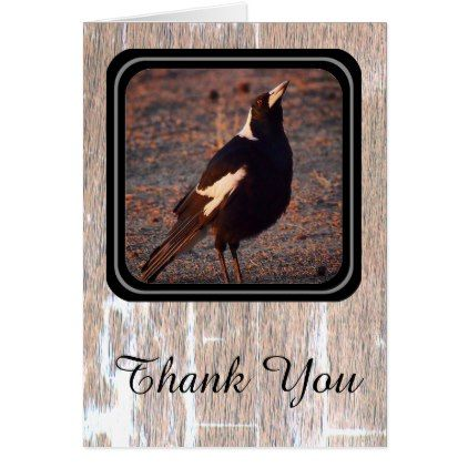 Magpie Thank You card - create your own gifts personalize cyo custom
