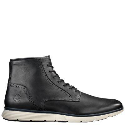 Timberland Men's Franklin Park 6-Inch Brogue Boots Black Full-Grain