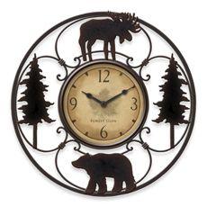 Round Bear Wall Clock - Bed Bath & Beyond  MY FAM. RM..  mlf:)