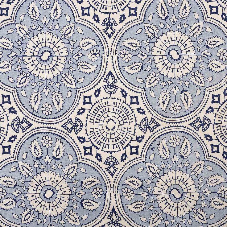 John Robshaw Fabrics: John Robshaw 'Madura' Lapis