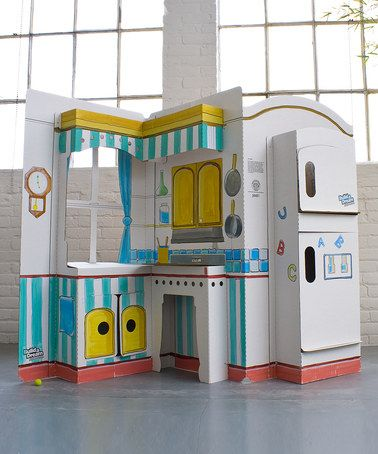 Take a look at this Cardboard Pop & Play Kitchen by Build a Dream Playhouses on #zulily today!