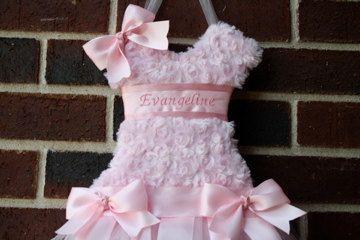 Tutu Bow Holder -- Princess Pink-- Organize Bows, Headbands, Hair Accessories-- Free Personalization.