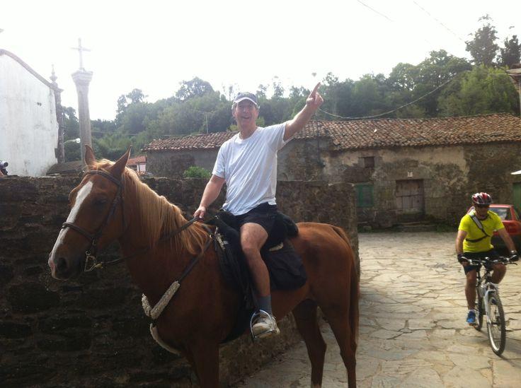 A caballo no vale..pero si les di una clase de como se anda por aca.