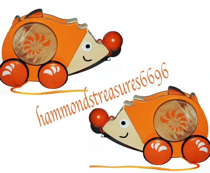 Hape Hedgehog Children's Pull Along Toy Collectors Learning To Walk Orange  | eBay