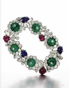 Tuttifrutti bracelet. Cartier  from the 1930s, est.