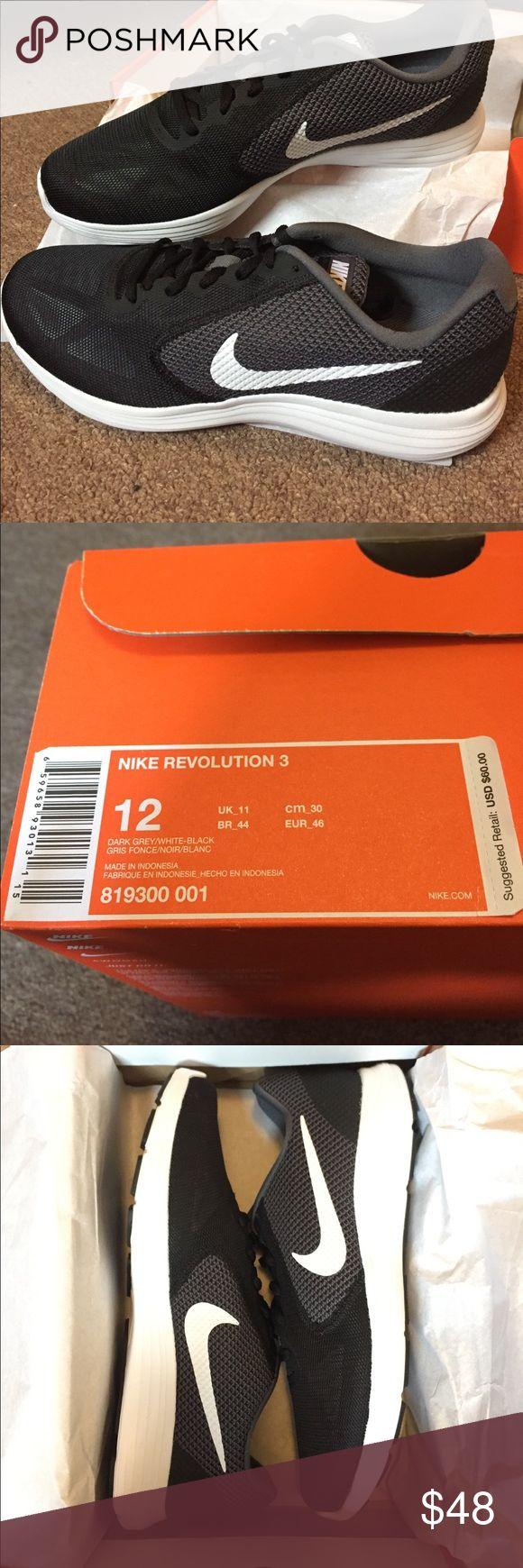 Nike Revolution 3 Sneakers Brand new Nike Revolution 3 Sneakers dark grey/white-black Nike Shoes Sneakers