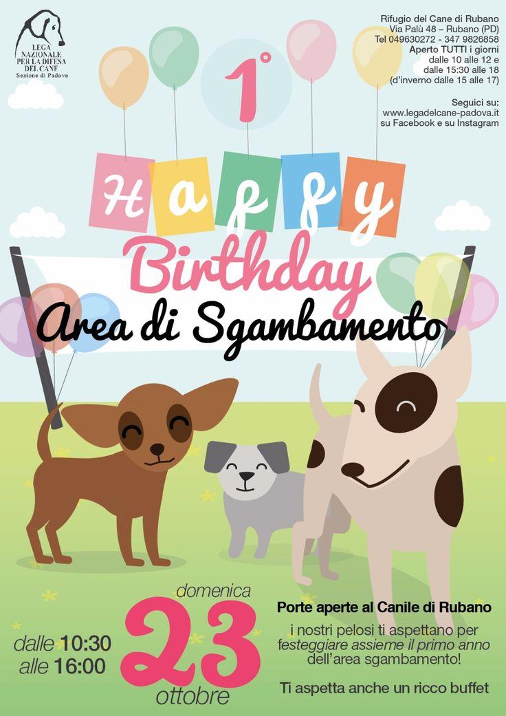 23/10 Happy Birthday Area di Sgambamento! #OpenDay al #canile di Rubano (#Padova) a un anno dall'inaugurazione della nuova area verde per gli ospiti