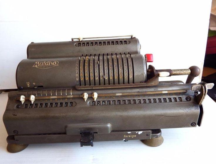 Vintage 1915 Muldivo Thales DER 84349 mechanical calculator