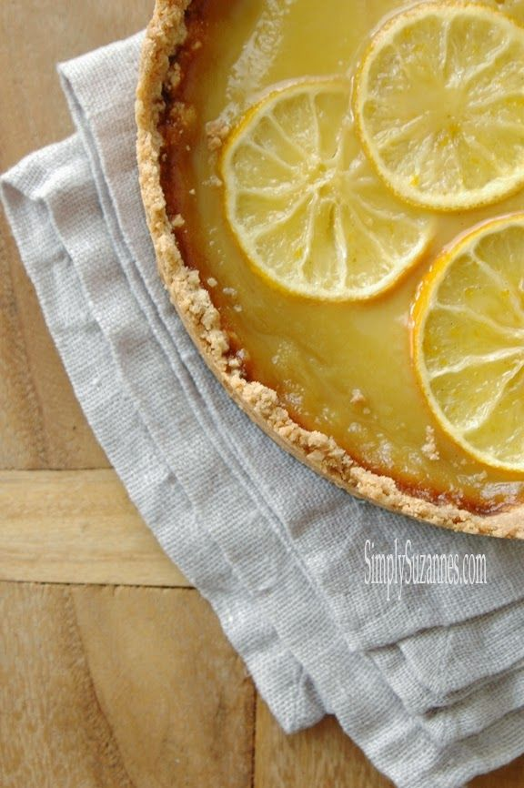 ... Suzanne's AT HOME: lemon and honey tart with salted shortbread crust