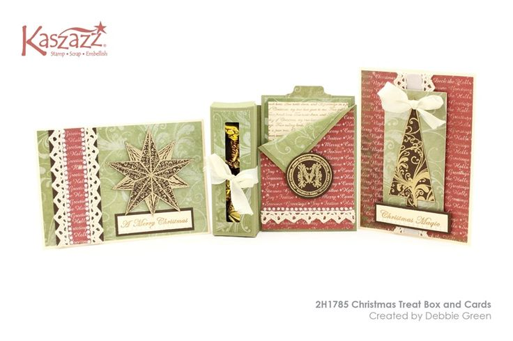 2H1785 Christmas Treat Box and Cards