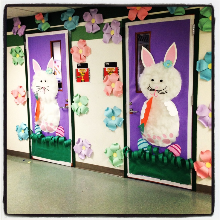 Easter Classroom Decor : My easter classroom door pinterest doors