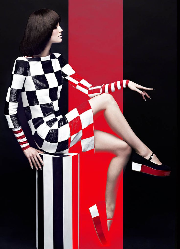 High Contrast – Chris Nicholls uses black, white, and red for a contrasting effect in his latest spread for Canada's Fashion Magazine. The fashion photographer snapped local model Samantha Rayner in bold monochromatic and red ensembles selected by stylist Zeina Esmail. Hair and makeup artist Greg Wencel added an extra punch with a retro chic …