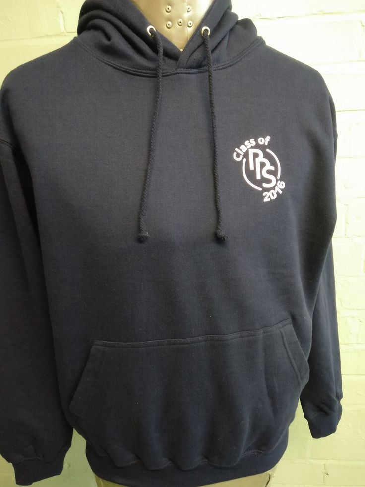Class of 2016 Black Leavers Hoodies for RRS. With printed custom logo on the front in white.