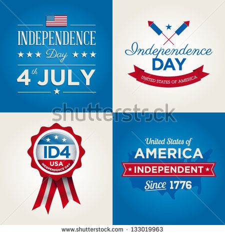 Happy independence day card United States of America, 4 th of July, with fonts