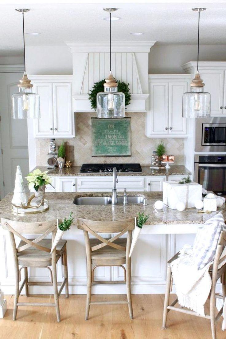 30 stunning farmhouse kitchen island decor ideas