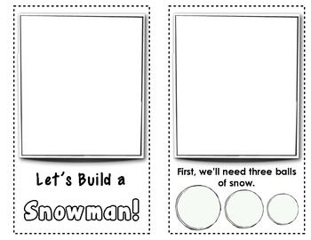 """Winter FREEBIE: """"Let's Build a Snowman"""" {Early Reader - Ready to Illustrate} Little by little, children build their own snowman across the pages of this interactive book."""