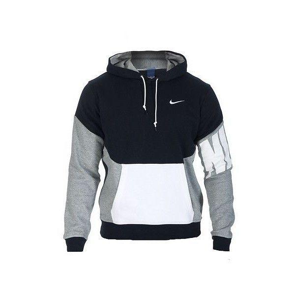 1f39651ae NIKE SPORTSWEAR NIKE CLUB PO COLOR BLOCK HOODIE ❤ liked on Polyvore  featuring tops, hoodies, nike hoodie, long sleeve hoodie, cotton hoodie, nike  hoodies ...