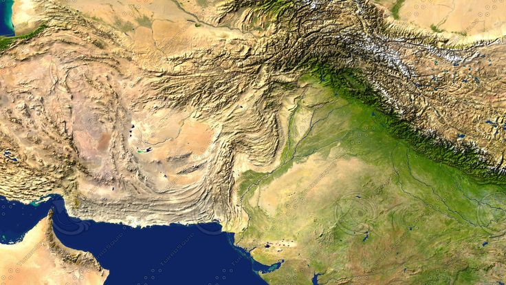 3D Pakistan Maps Model - 3D Model