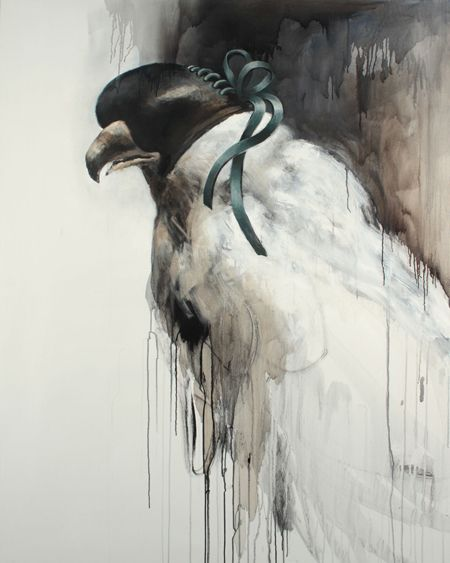 Bowtie. 145cm x 175cm. Acrylic and oil on canvas. 2011   By Samuli Heimonen