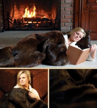 Beaver Fur Blanket, Very Nice!