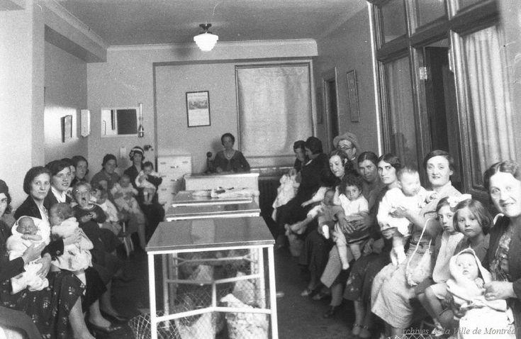 Lait 1933 Clinique Laurier, 305, rue Mont-Royal Est, Salle d'attente, construction 1932-35