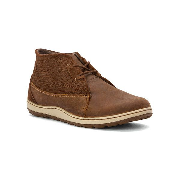Merrell Ashland Chukka (175 CAD) ❤ liked on Polyvore featuring shoes, boots, brown sugar, women, water proof shoes, long shoes, merrell footwear, merrell and brown shoes