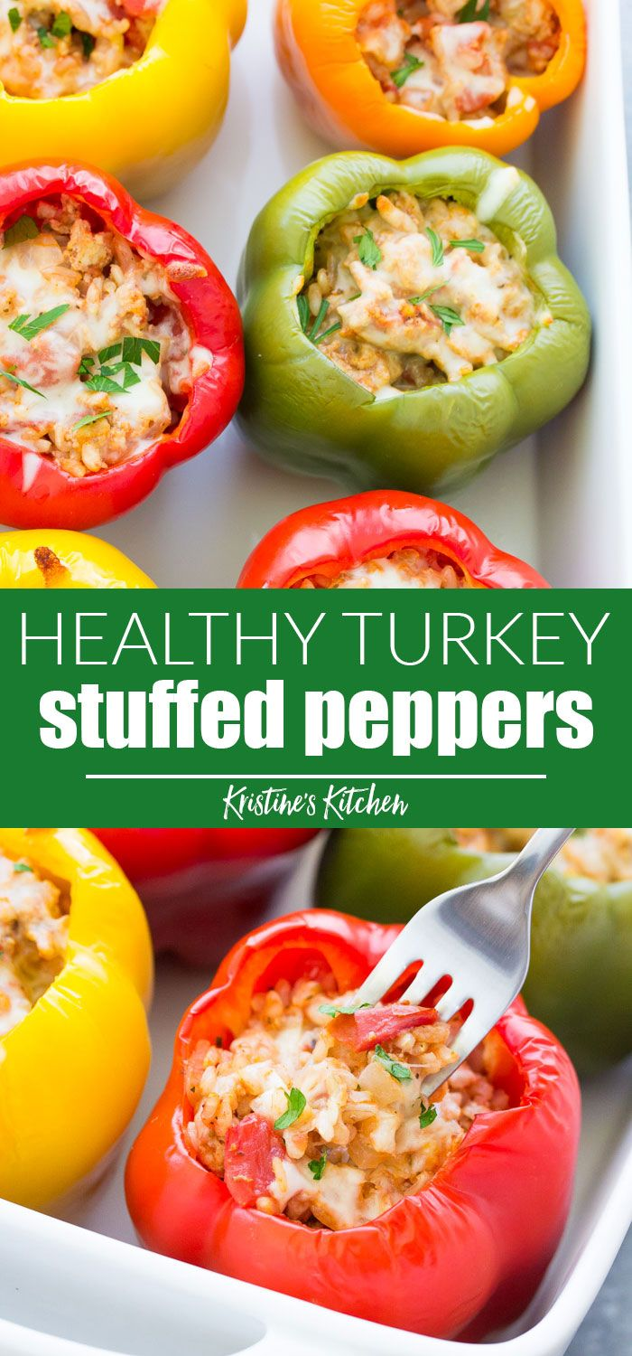 Stuffed Bell Peppers With Rice Ground Turkey Or Beef Tomato Sauce And Seasonings These Easy It Stuffed Peppers Healthy Ground Turkey Stuffed Peppers Healthy