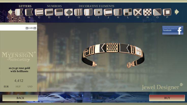 MyEnsign Yachting Jewels - Jewel Designer!! #myensign #AppleStore #nautical #jewelry #gold #diamonds