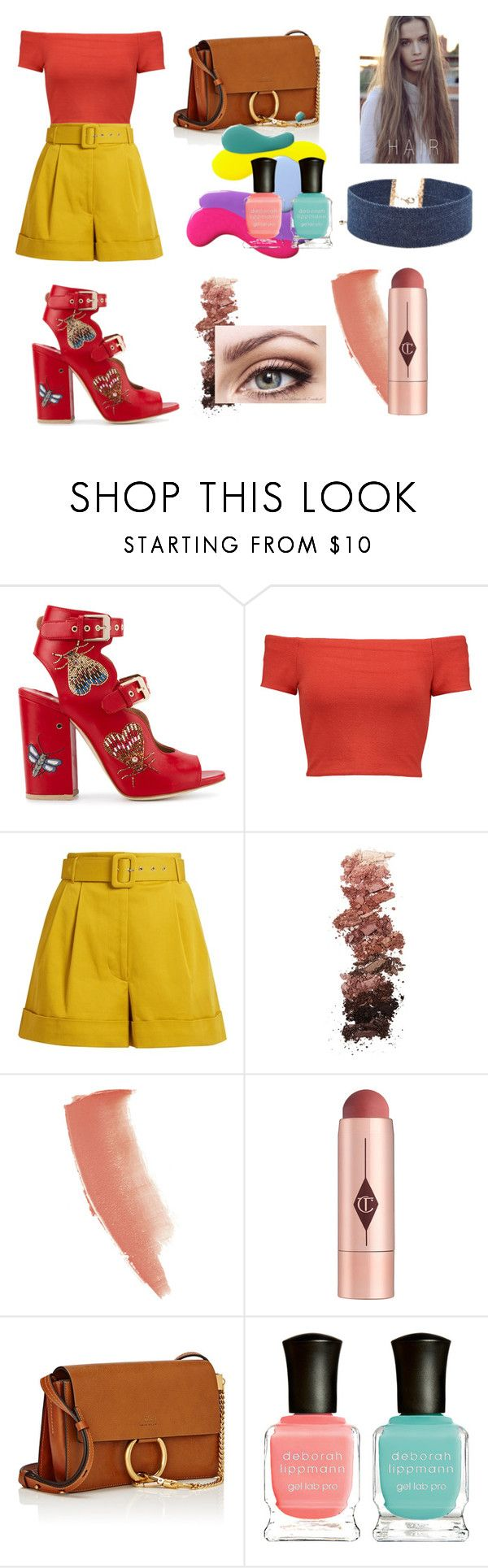 """""""Ryland"""" by jolilollie on Polyvore featuring Laurence Dacade, Alice + Olivia, Isa Arfen, L.A. Girl, Charlotte Tilbury, Chloé, Deborah Lippmann and Forever 21"""