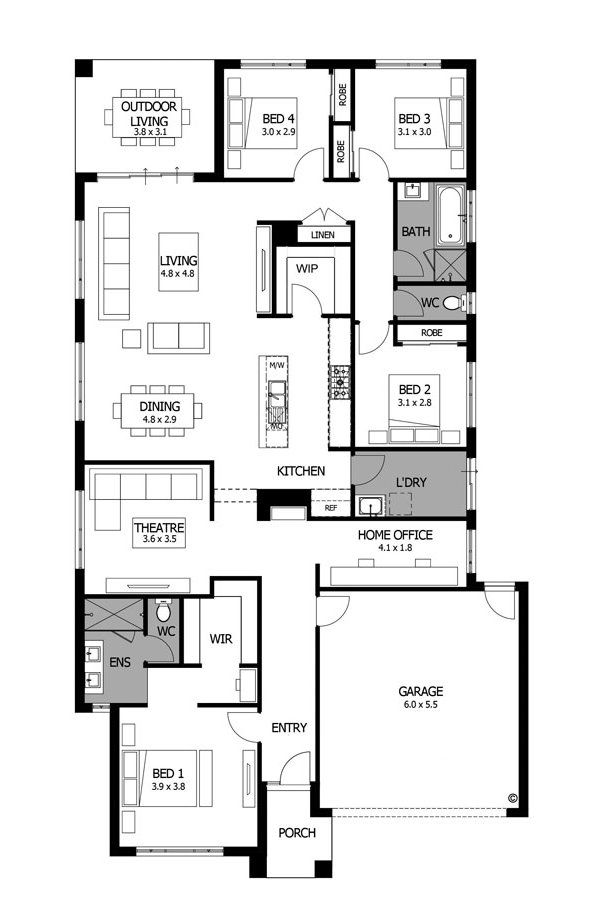 Contemporary home design modern floor plans bohemia mojo homes