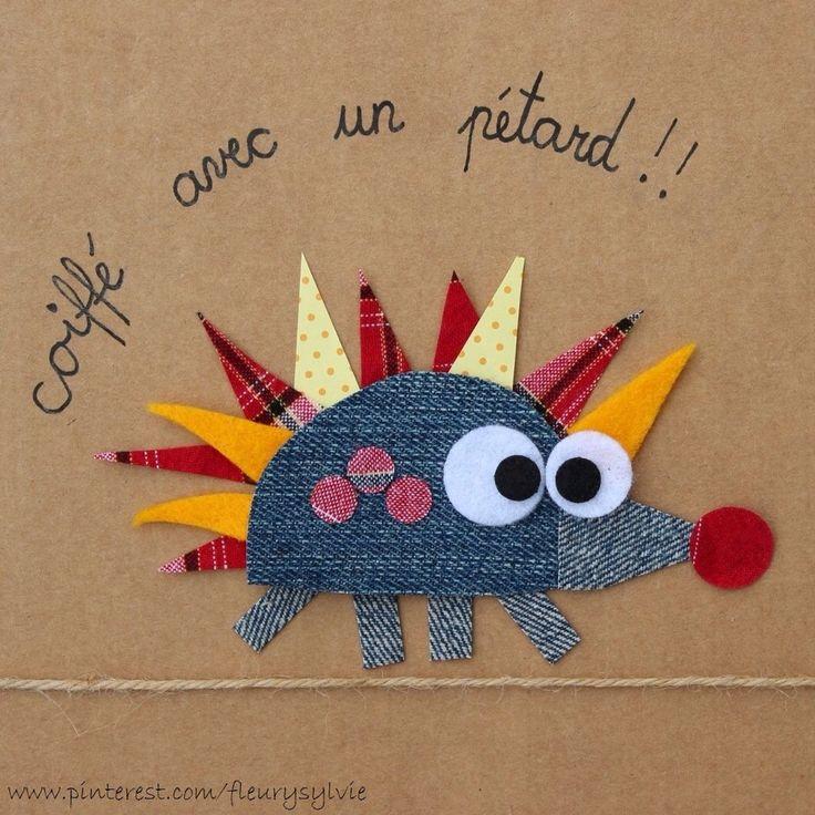 Coiffé avec un pétard ! #jeans #recycle http://pinterest.com/fleurysylvie/mes-creas-la-collec/ et www.toutpetitrien.ch