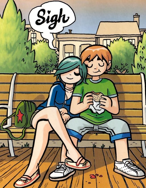 Scott Pilgrim & Ramona Flowers by Bryan Lee O'Malley.