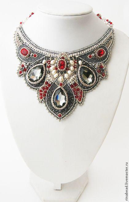 Lamparas Para Baño Turco:Collar Bahriya – plata, rojo, gris, decoración oriental, decoración