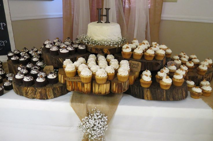 Wood Dessert Table ~ Best images about carley and joel s rustic wedding on