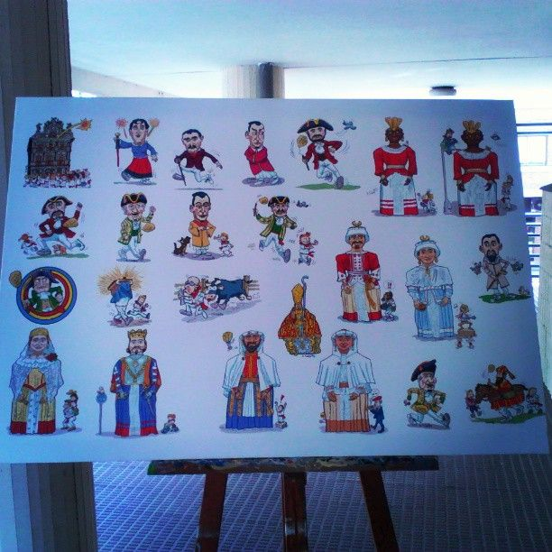 "@Roberto Flores Yoldi's photo: ""Newest #canvas ! 116 x 85 cms. #sanfermin #sanfermin2013 #runningwiththebulls #party #pamplona #iruña #basqueland #basque #gigantes #kilikis #comparsa"""