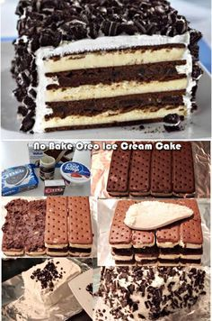 No Bake Oreo Icecream Cake