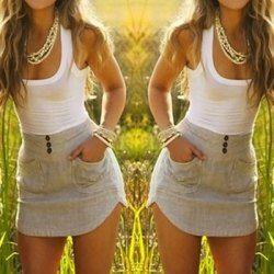 Color Block Double-Pocket Skinny Stylish Scoop Neck Sundress For Women (AS THE PICTURE,M) | Sammydress.com Mobile