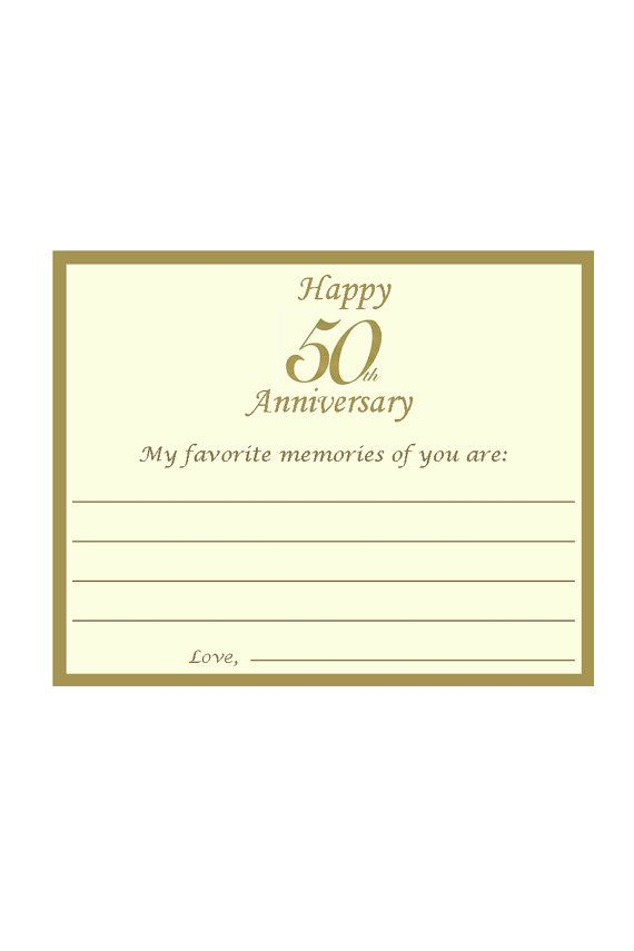 50th Anniversary Favorite Memories Best by lovelypapercreations