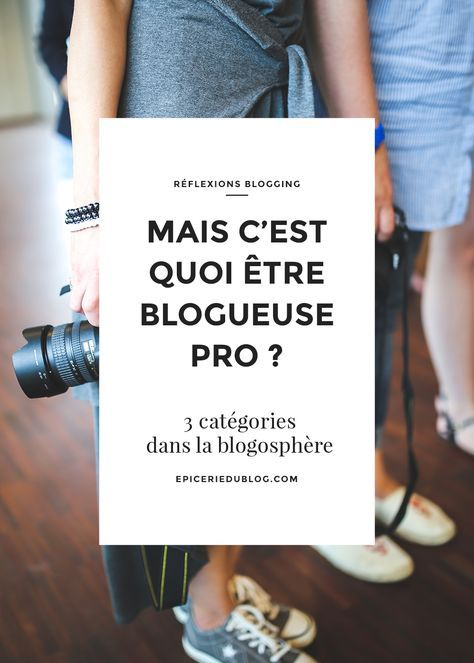 De plus en plus, je vois fleurir des vocations de blogueuse pro. Si pour moi, ce que l'on sous-entend derrière cette expression est assez clair, j'ai remar